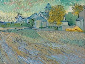 Vue De L'Asile Et De La Chapelle De Saint-Rémy, 1889 by Vincent van Gogh