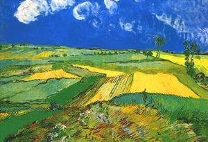 Vincent Van Gogh Wheat Fields at Auvers Under Clouded Sky Art Print Poster