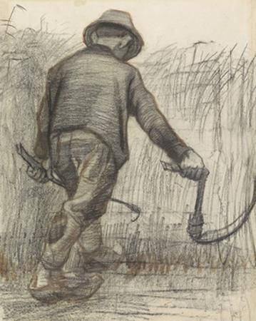 Wheat Mower with Hat, Seen from Behind, C. 1870-90 by Vincent van Gogh