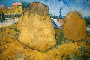 Wheat Stacks in Provence by Vincent van Gogh