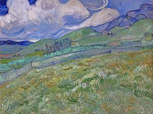 Wheatfield and Mountains, c.1889 by Vincent van Gogh