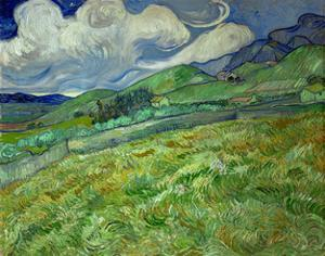 Wheatfield and mountains, June 1889 Canvas, 70,5 x 88,5 cm SMK 1840. by Vincent van Gogh