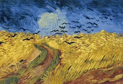Vincent Van Gogh Wheatfield with Crows Art Print Poster