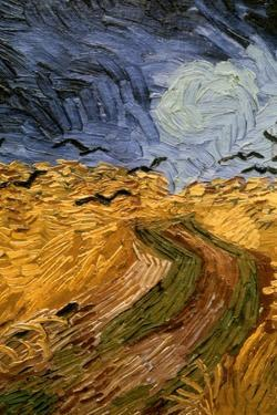 Wheatfield with Crows, (Detail) 1890 by Vincent van Gogh