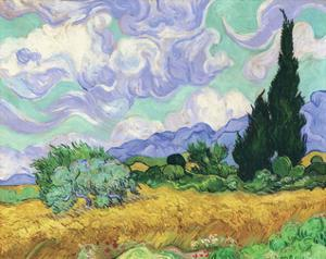 Wheatfield with Cypress, 1889 by Vincent van Gogh