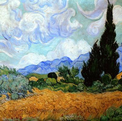 Wheatfield with Cypresses, c.1889