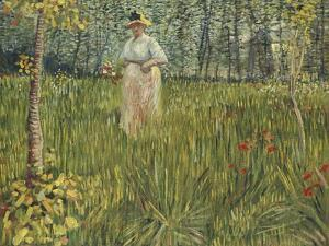 Woman in a Garden, 1887 by Vincent van Gogh