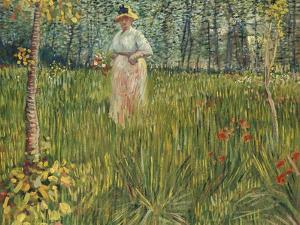 Woman in a Garden (Femme Dans Un Jardin), 1887 by Vincent van Gogh