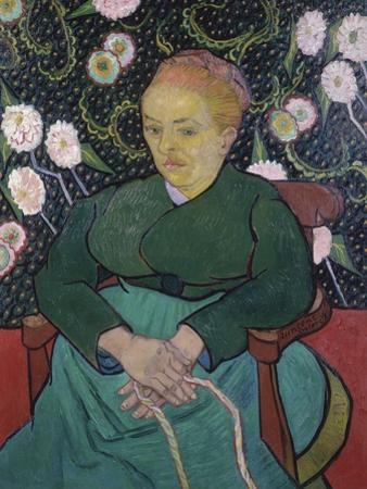 Woman Rocking a Cradle by Vincent van Gogh