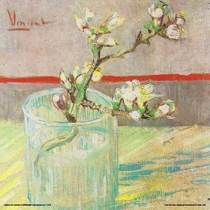 Van Gogh- Blossoming Almond Branch In A Glass by Vincent Van Goh