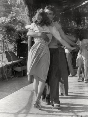 Man and a Woman Dancing in a Close Embrace by Vincenzo Balocchi