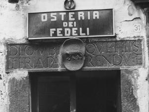 Sign for a Osteria by Vincenzo Balocchi