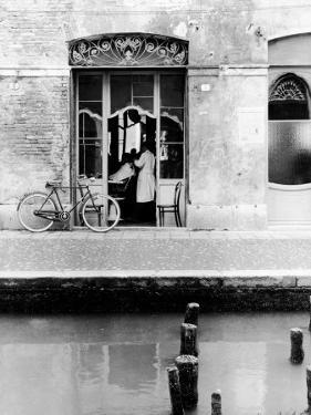 The Hairdresser on the River by Vincenzo Balocchi