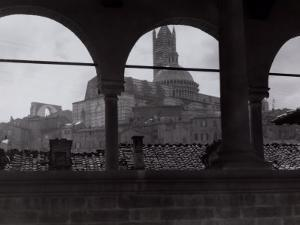 View of the Cathedral and the Bell Tower from an Open Gallery, Siena by Vincenzo Balocchi