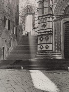 View of the Flight of Steps That Takes to the Piazza San Giovanni, Siena by Vincenzo Balocchi