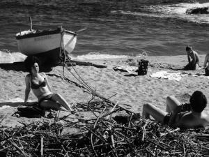 Youth Taking a Photograph of a Girl on the Seashore by Vincenzo Balocchi