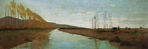 Canal in the Tuscan Maremma by Vincenzo Cabianca