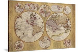 Antique Map, Globe Terrestre, 1690 by Vincenzo Coronelli