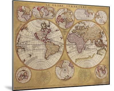 Antique Map, Globe Terrestre, 1690