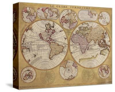 Antique Map, Globe Terrestre, c.1690