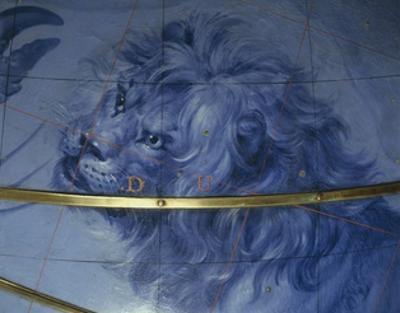 Celestial Globe, Detail: Lion, 1683