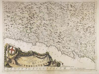 Map of Eastern Liguria Region, 1690