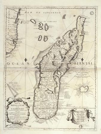 Map of Madagascar Island