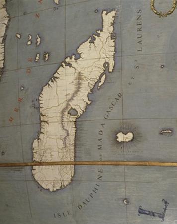 Terrestrial Globe, Detail of Madagascar, 1683
