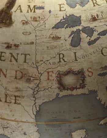 Terrestrial Globe, Detail of the Gulf of Mexico, 1683