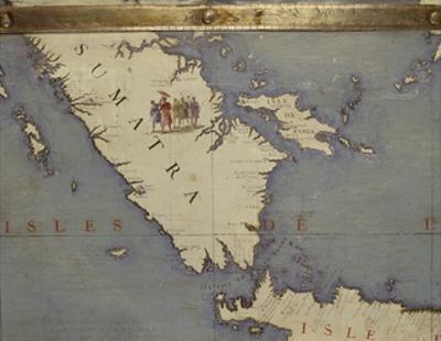 Terrestrial Globe, Detail: Sumatra, 1683