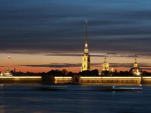 Cathedral of St. Peter and St. Paul at Dusk, St. Petersburg, Russia, Europe by Vincenzo Lombardo