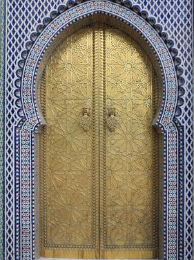 Door, Royal Palace Gates, Fez, Morocco, North Africa, Africa by Vincenzo Lombardo