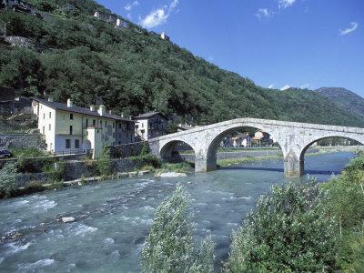 Ganda Bridge over the Adda River Near Morbegno, Valtellina, Lombardy, Italy, Europe