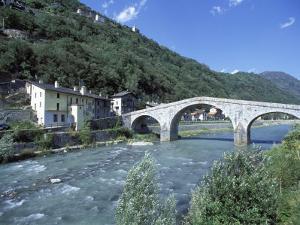 Ganda Bridge over the Adda River Near Morbegno, Valtellina, Lombardy, Italy, Europe by Vincenzo Lombardo