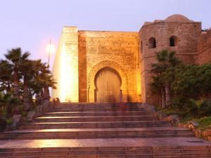 Gate and Walls of the Oudaya Kasbah, Rabat, Morocco, North Africa, Africa by Vincenzo Lombardo
