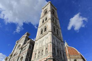 Giotto Bell Tower and Santa Maria Del Fiore Cathedral (Duomo), Florence, Tuscany, Italy, Europe by Vincenzo Lombardo