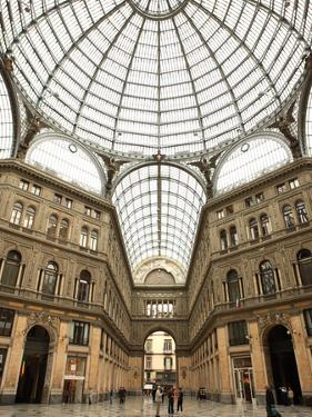 Low Angle View of the Interior of the Galleria Umberto I, Naples, Campania, Italy, Europe by Vincenzo Lombardo