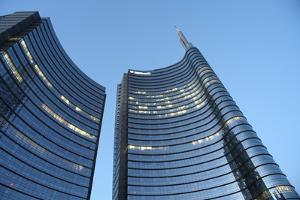 Modern Building, Gae Aulenti Square, Milan, Lombardy, Italy, Europe by Vincenzo Lombardo