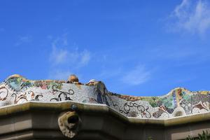Mosaic Railings in Gaudi's Park Guell, Barcelona, by Vincenzo Lombardo
