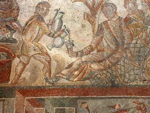 Mosaic, Villa Romana del Tellaro, Noto, Sicily, Italy, Europe by Vincenzo Lombardo