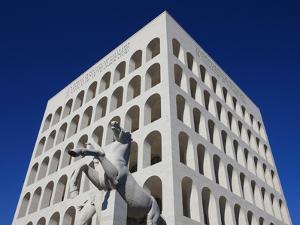 Palazzo Della Civilta Italiana, Eur, Rome, Lazio, Italy, Europe by Vincenzo Lombardo