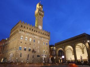Piazza della Signoria and Palazzo Vecchio, Florence, UNESCO World Heritage Site, Tuscany, Italy by Vincenzo Lombardo