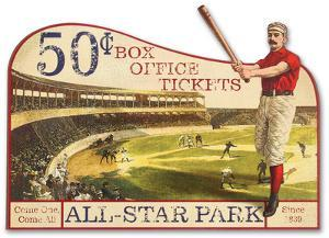 Vintage Advertising Baseball Die Cut