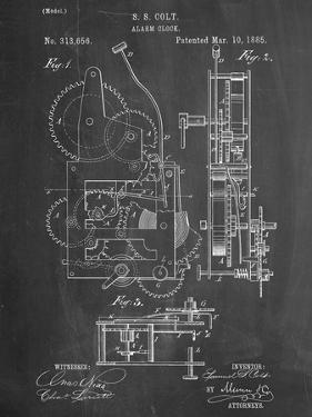 Vintage Alarm Clock Patent 1885