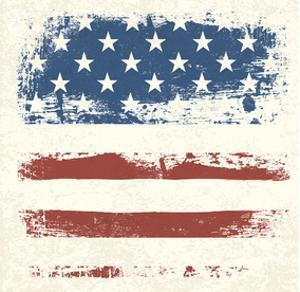 Vintage American Flag Detail