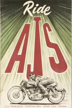 Ajs Motorcycle by Vintage Apple Collection