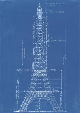 Eiffel Tower Blueprint by Vintage Apple Collection