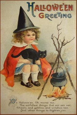 Halloween Cauldron by Vintage Apple Collection