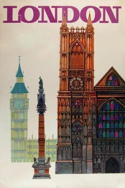 London Big Ben by Vintage Apple Collection