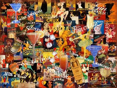 Vintage Liquor Collage